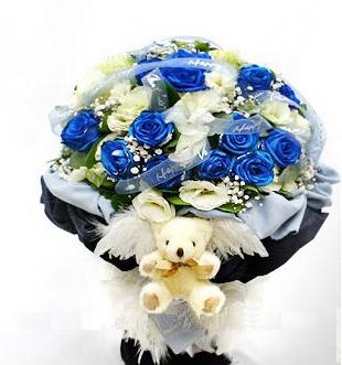 11枝蓝色妖娆/爱如我心-订花人鲜花