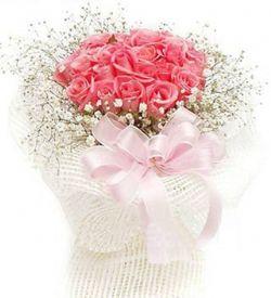 21枝粉玫瑰/浪漫一生