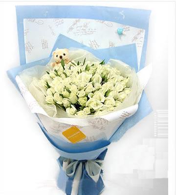99枝白玫瑰/思念-订花人鲜花