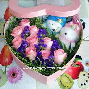 9枝粉玫瑰/爱的祈祷-订花人鲜花