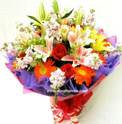 6枝红玫瑰/事事顺心-订花人鲜花