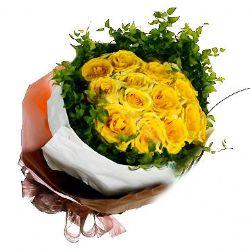 16枝黄玫瑰/友谊长存