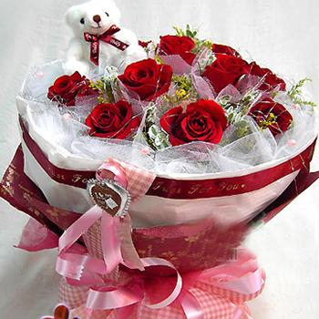 11枝红玫瑰/心只有你-订花人鲜花