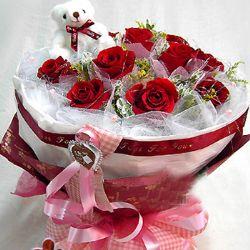 11枝�t玫瑰/心只有你