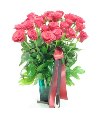 26枝�t玫瑰/幸福港��-�花人�r花