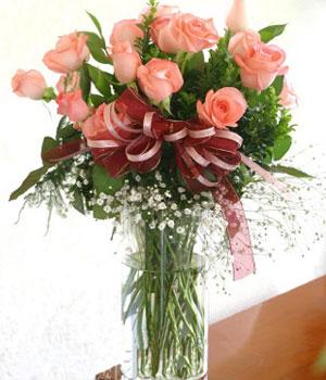 18枝粉玫瑰/缘牵一生-订花人鲜花