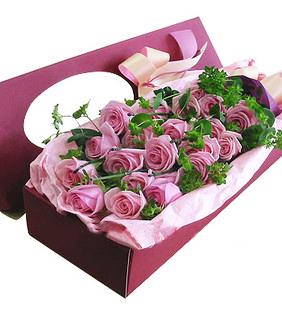 20枝紫玫瑰/只恋伊人-订花人鲜花