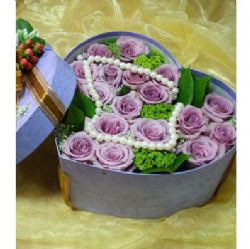 19枝紫玫瑰/心属于你