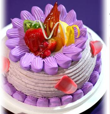 紫色欧式蛋糕图片