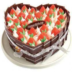 �r奶水果蛋糕/莓�w色舞(8寸)