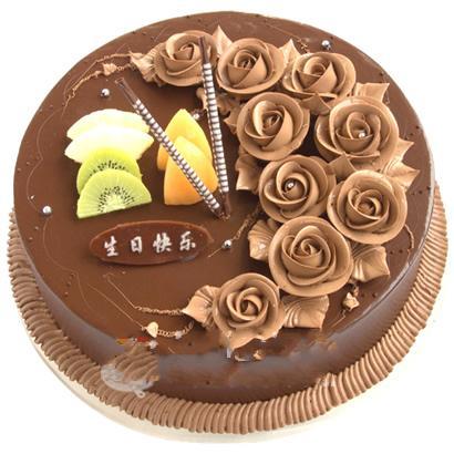 巧克力蛋糕/一生的爱(8寸)-订花人鲜花