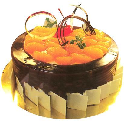 巧克力水果蛋糕/永恒岁月(8寸)-订花人鲜花