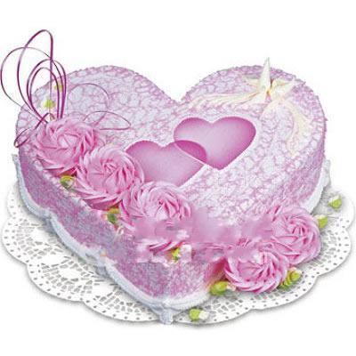 婚庆蛋糕/心海(8寸)-订花人鲜花
