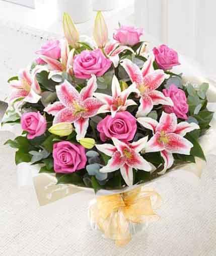 9枝紫玫瑰/珍惜的��-�花人�r花