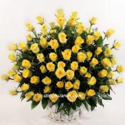 99枝黄玫瑰/心灵的触动