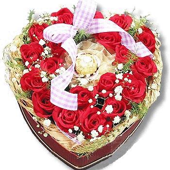 28枝�t玫瑰/�N��的永恒-�花人�r花