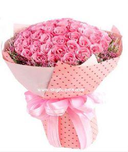 99枝粉玫瑰/爱你一万年