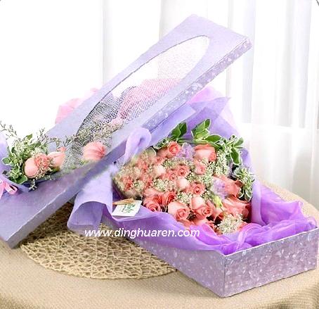 21枝粉玫瑰/爱相随-订花人鲜花