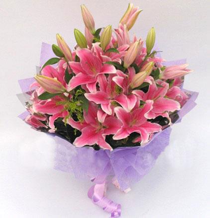 8枝百合/真诚问候-订花人鲜花