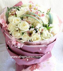 25枝白玫瑰/爱你是缘