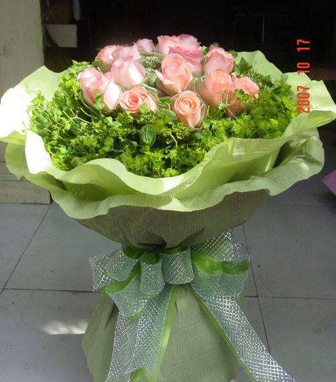 11枝粉玫瑰/爱的天使-订花人鲜花