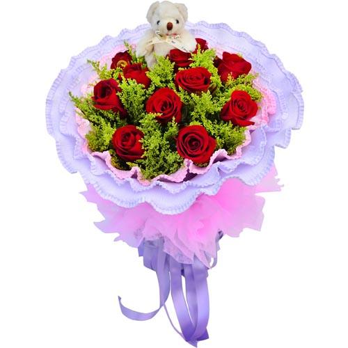 11枝红玫瑰/爱的心情-订花人鲜花