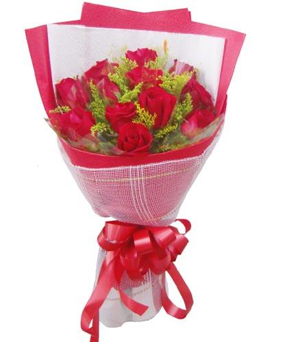 12枝红玫瑰/一心一意的爱-订花人鲜花