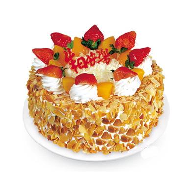 植物鲜奶蛋糕/喜气洋洋(8寸)-订花人鲜花