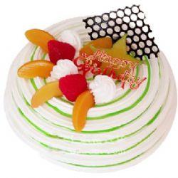 �A形�r奶水果蛋糕/�r果�P(8寸)