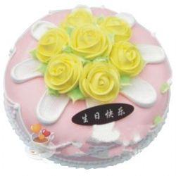 �A形�r奶蛋糕/�S色�厍�(8寸)