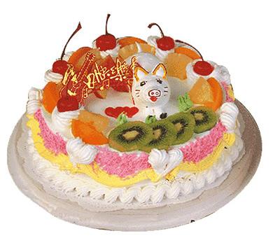鲜奶蛋糕/可爱猪仔(8寸)-订花人鲜花