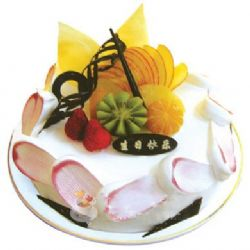 �A形�r奶水果蛋糕/�D�M春回(8寸)