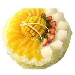 水果蛋糕/�剀白8�(8寸)