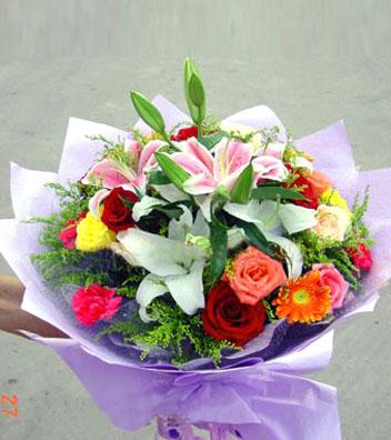 节日感恩/3朵百合-订花人鲜花