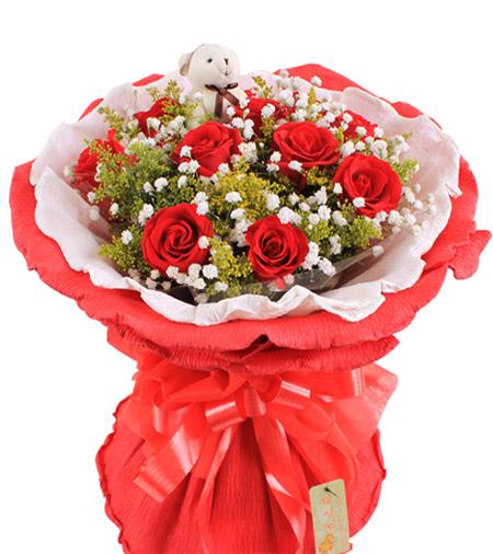 11枝红玫瑰/爱意浓浓-订花人鲜花