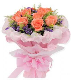 11枝粉玫瑰/甜蜜