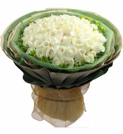 66枝白玫瑰/白色�偃�