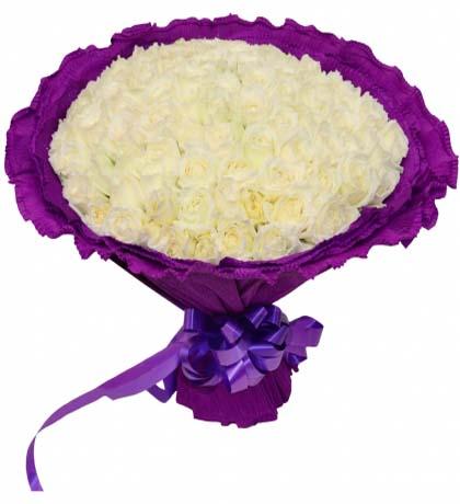99枝白玫瑰/遇见你是我的缘 -订花人鲜花