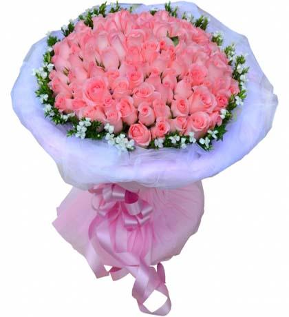 99枝粉玫瑰/�勰�鄄�� -�花人�r花