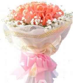 19枝粉玫瑰/可爱姑娘