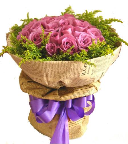 24枝紫玫瑰/思念-订花人鲜花