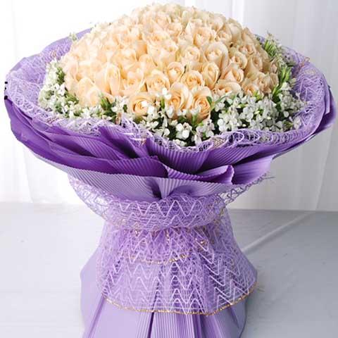 爱的守护/99朵香槟玫瑰-订花人鲜花