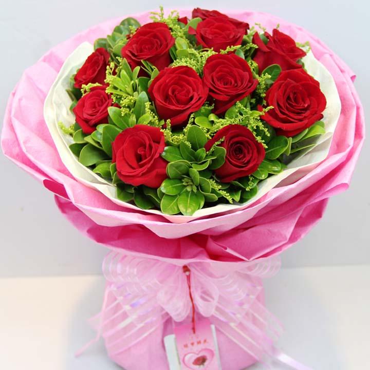 喜欢你/11朵红玫瑰-订花人鲜花