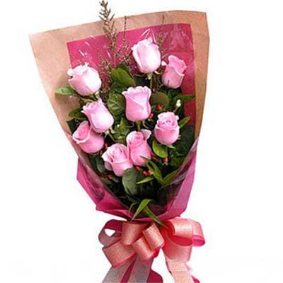 星光传温情/9朵粉玫瑰-订花人鲜花