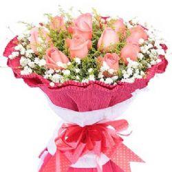�鄣奈兜�/11朵粉玫瑰