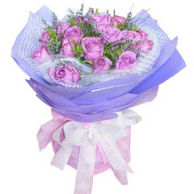 永远的最爱/11朵紫玫瑰-订花人鲜花
