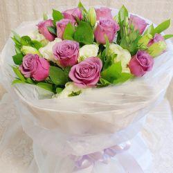 紫爱一生/11朵紫玫瑰