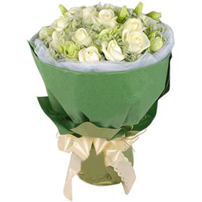 勿忘我/12朵白玫瑰-�花人�r花