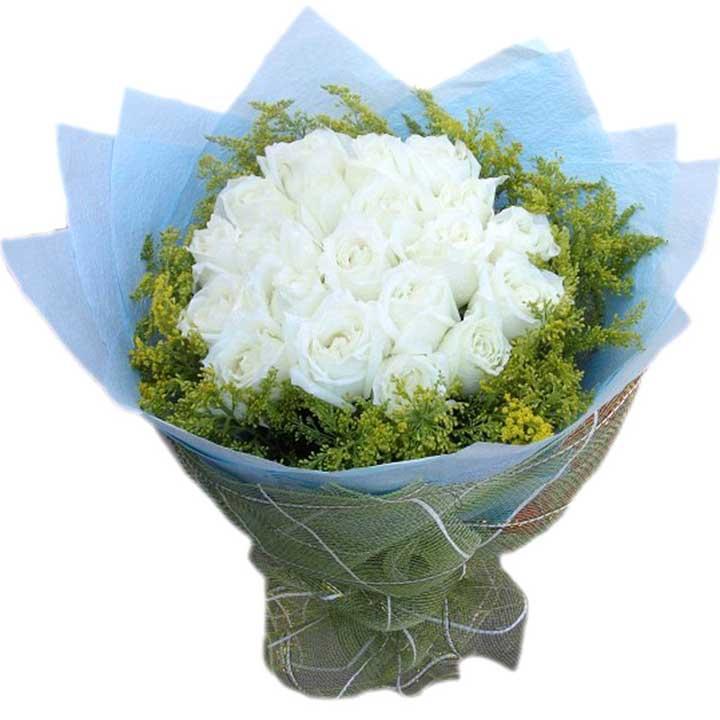 时常想念/21朵白玫瑰-订花人鲜花