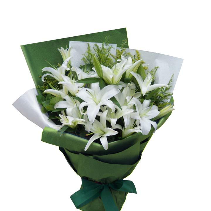 芬芬的春天/6枝白百合-订花人鲜花
